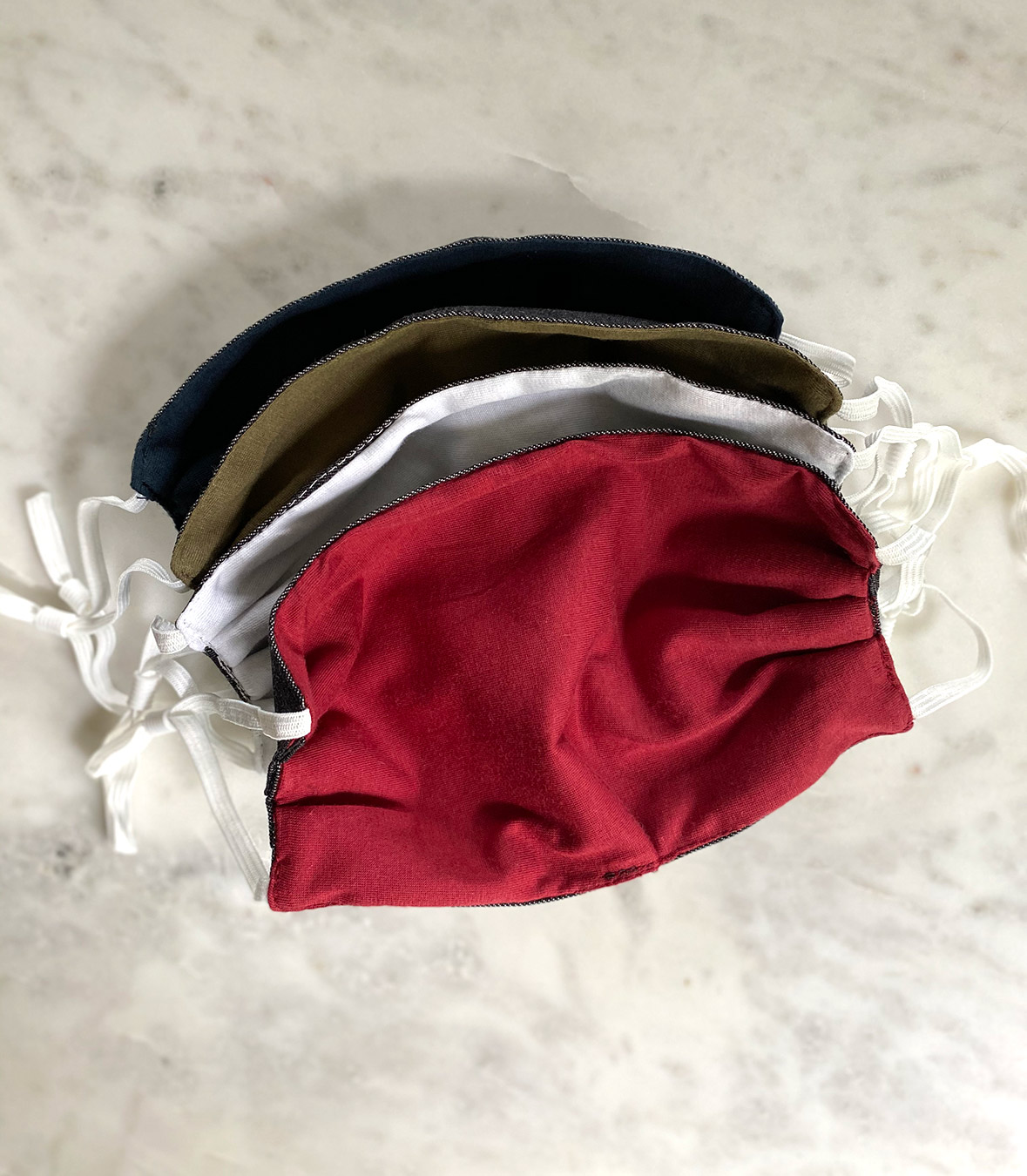 Wool/Cotton Face Masks - 4 pack Made in USA | RAMBLERS WAY