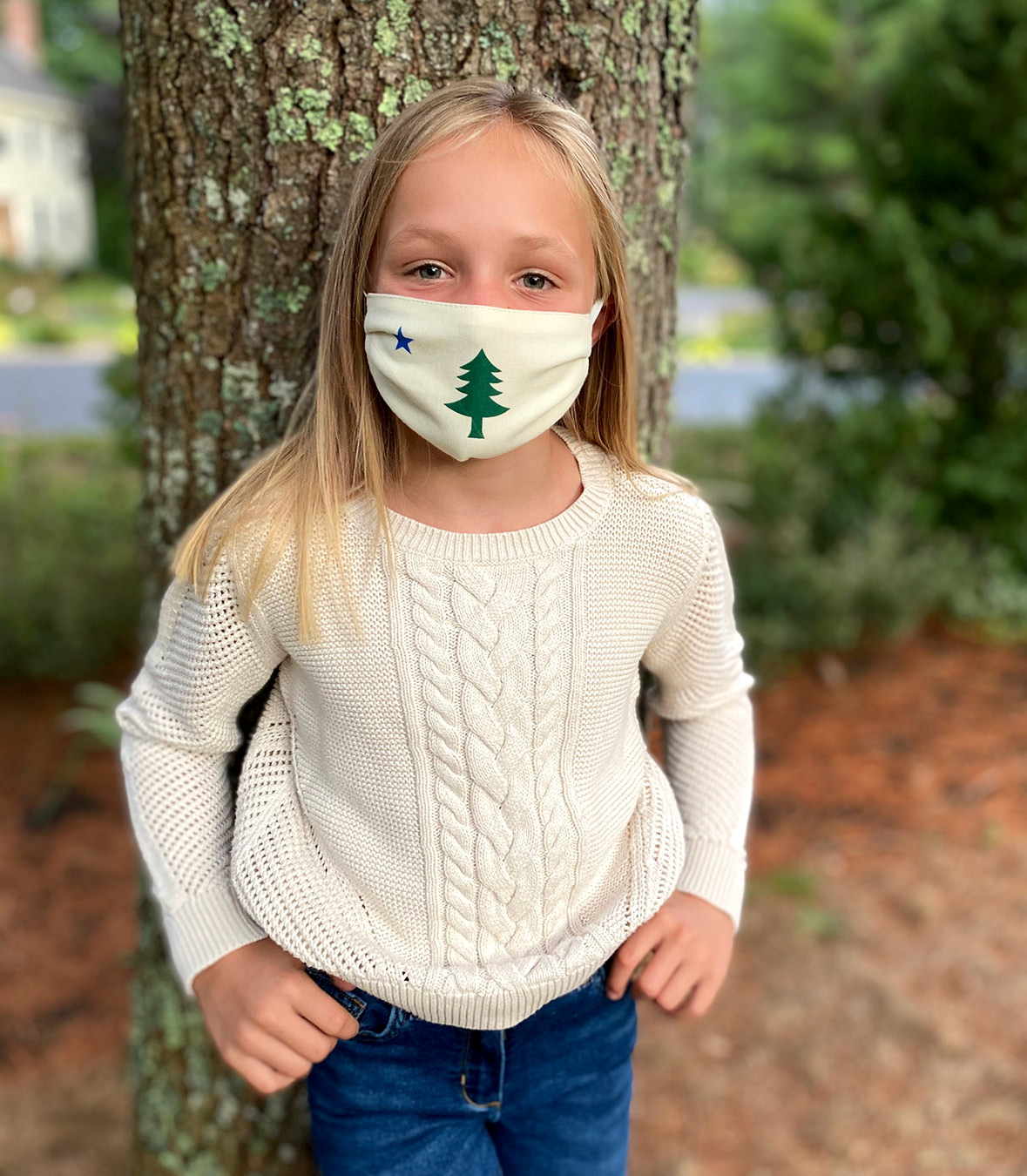 Kids Maine Flag Mask Made in USA | Ramblers Way