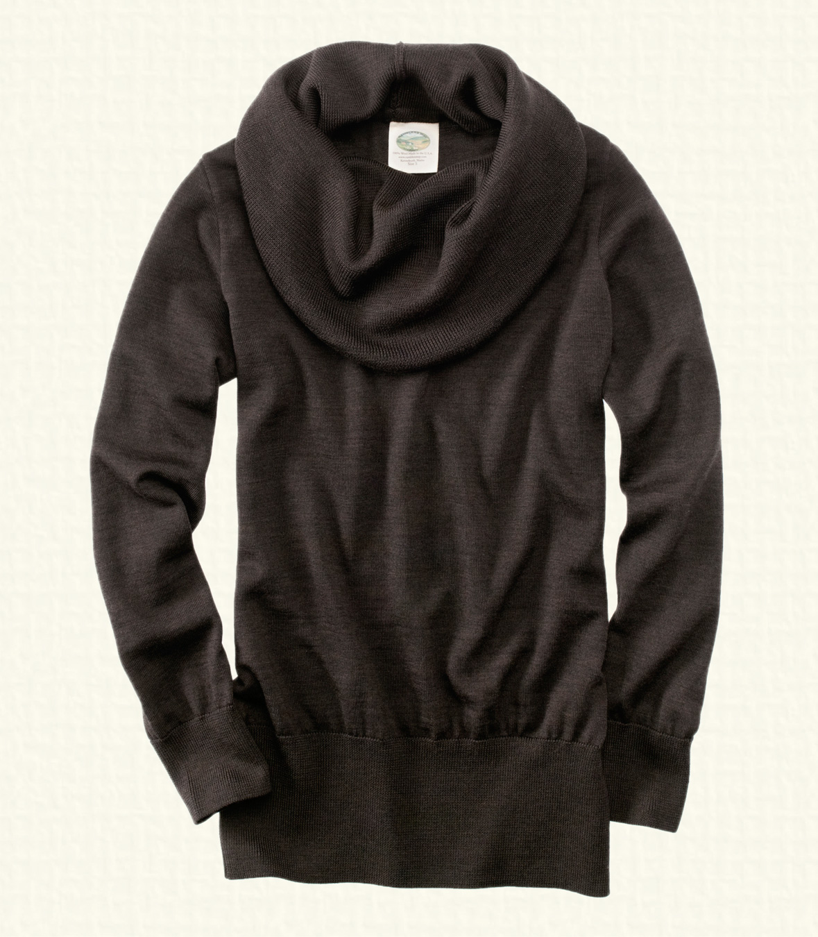 On Sale - Women's Merino Wool Cowl Neck Sweater Made in USA ...
