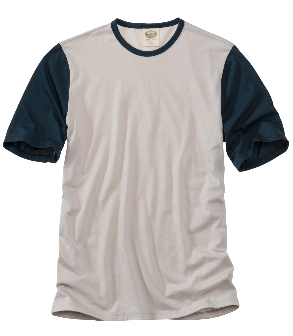 Cotton Crew Neck Tee - Short Sleeve Made in USA   RAMBLERS WAY