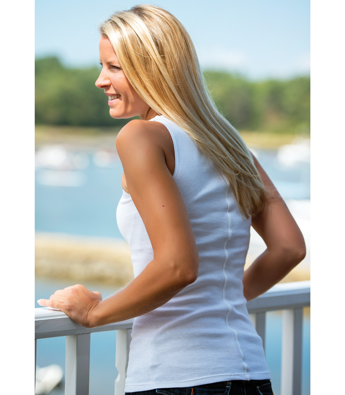 Cotton Tank with Center Back Seam Made in USA | Ramblers Way