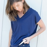 Wool Eliza V-Neck Tee - FINAL SALE Made in USA | Ramblers Way