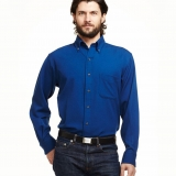 Wool Gabardine Button Down Shirt - Long Sleeve Made in USA | Ramblers Way