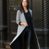 Reversible Long Wool Cardigan Made in USA | Ramblers Way