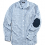 Wales Cotton Shirt w/ Elbow Patches Made in USA | RAMBLERS WAY
