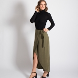 Wool Petal Wrap Skirt Made in USA | Ramblers Way