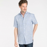 Linen Brad Shirt Short Sleeve Made in USA | RAMBLERS WAY