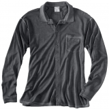 Wool Long Sleeve Button Down Polo Made in USA | Ramblers Way