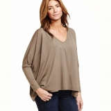 Wool Sweep Batwing Tee Made in USA | Ramblers Way