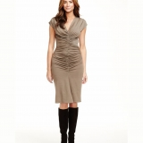 Wool Chevron Dress - FINAL SALE Made in USA | RAMBLERS WAY