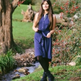 Wool Mandarin Dress Made in USA | Ramblers Way