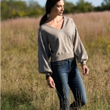 Wool Balloon Sleeve Sweater Made in USA | Ramblers Way