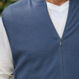 Wool Zip Front Vest Sweater - FINAL SALE Made in USA | Ramblers Way