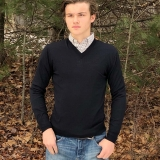 Wool Vaughn V-Neck Sweater Made in USA | RAMBLERS WAY