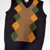 Wool V-Neck Sweater Vest - Final Sale Made in USA | RAMBLERS WAY