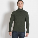 Wool Ribbed Turtleneck Sweater - Final Sale Made in USA | Ramblers Way