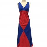 Cotton Color Block Dress - Sleeveless - FINAL SALE Made in USA | RAMBLERS WAY