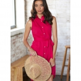 Cotton Sleeveless Swing Dress - FINAL SALE Made in USA | RAMBLERS WAY