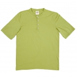 Cotton Mock Collar Henley SS Made in USA   RAMBLERS WAY