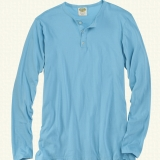 Pima Cotton Henley - Long Sleeve Made in USA | Ramblers Way