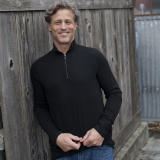 Cotton Quarter Zip Pullover Made in USA | Ramblers Way