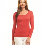 Cotton Scoop Neck - Long Sleeve Made in USA | Ramblers Way