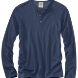 Cotton Rib Knit Henley - Long Sleeve Made in USA | Ramblers Way