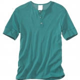 Cotton Rib Knit Henley - Final Sale Made in USA | RAMBLERS WAY