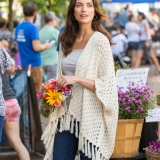 Cotton Poncho Wrap Made in USA | Ramblers Way