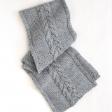 Cable Knit Scarf Made in USA | Ramblers Way