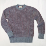 Popcorn Stitch Wool Crew Neck Sweater Made in USA | Ramblers Way