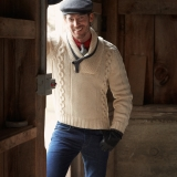 Men's Wool Fisherman Pullover Sweater Made in USA | Ramblers Way