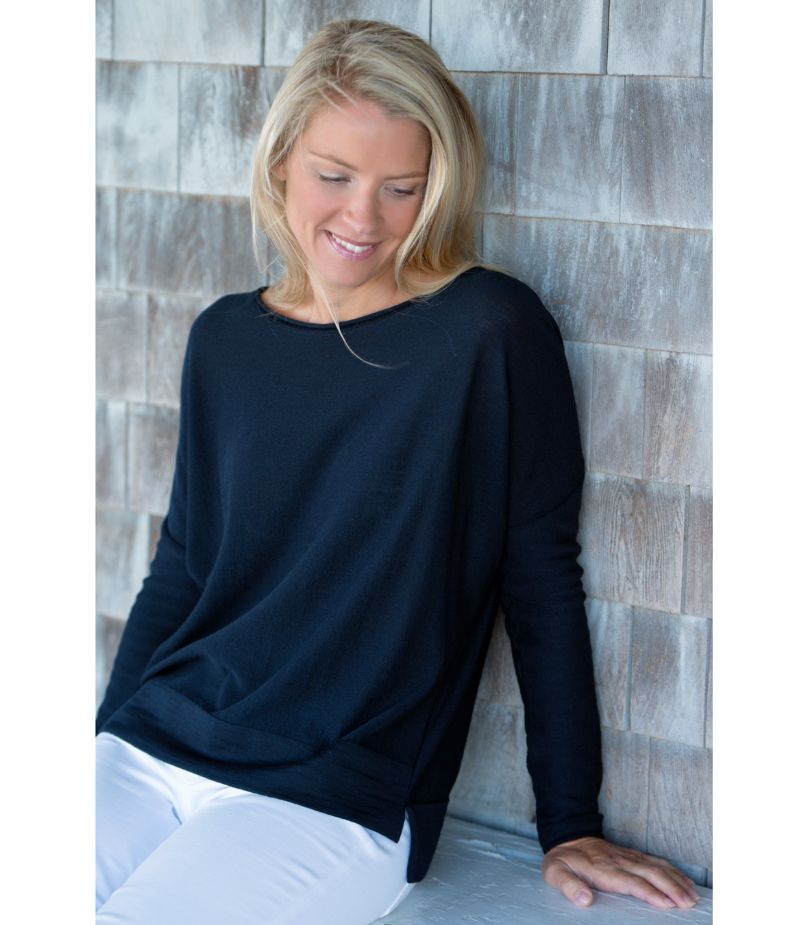 Women's 100% Merino Wool Crew Neck Sweater Made in USA | RAMBLERS WAY