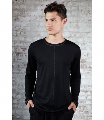 Wool Dexter Tee - Long Sleeve Made in USA | Ramblers Way