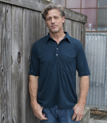 Wool Jefferson Polo Short Sleeve - FINAL SALE Made in USA | RAMBLERS WAY