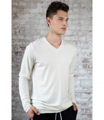 Men's Wool Old Town Tee - Long Sleeve 4 oz. Made in USA | Ramblers Way