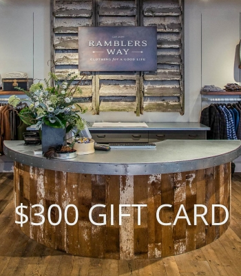 $300 GIFT CARD Made in USA | Ramblers Way