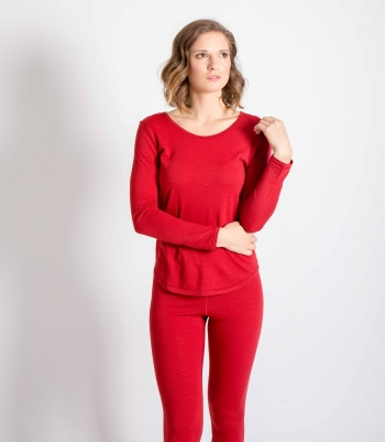 Pick Stitch Wool Scoop Neck  Made in USA | Ramblers Way