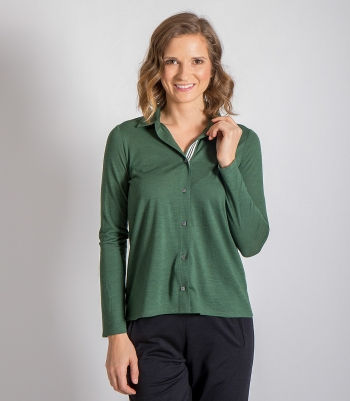 Organic Wool Sylvie Swing Blouse Made in USA | RAMBLERS WAY