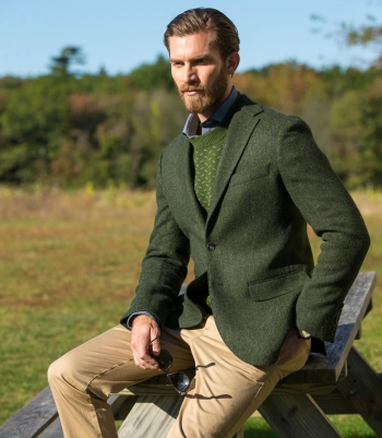Fleck Jacquard Wool Sweater  Made in USA | Ramblers Way