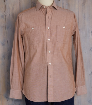 Men's Cotton Chambray Shirt Made in USA | Ramblers Way