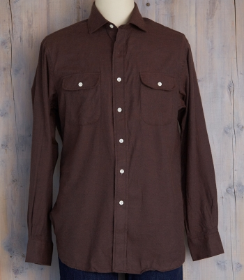 Men's Lowell Cotton Shirt w/Pocket/Flap Made in USA | Ramblers Way