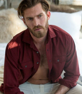 Wool Lowell Fitted Shirt  Made in USA | Ramblers Way