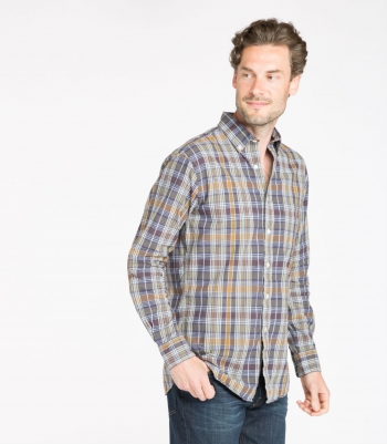 Men's James Linen Shirt LS Made in USA | Ramblers Way