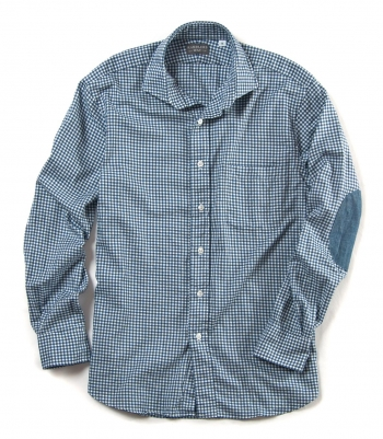Lowell Cotton Shirt w/ Elbow Patches Made in USA | Ramblers Way