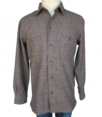 Wool Tweed Overshirt Made in USA | Ramblers Way