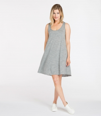 Sleeveless Wool Swing Dress Made in USA | Ramblers Way