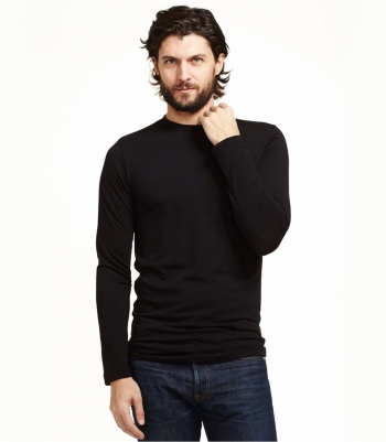 Wool Crew Neck Tee - Long Sleeve Made in USA | Ramblers Way