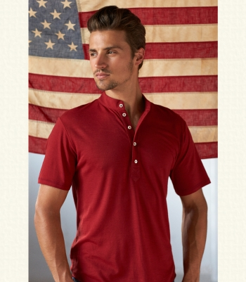 Men's Wool Liberty Polo Tee Made in USA | Ramblers Way
