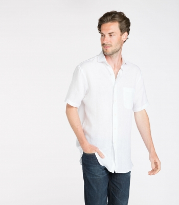 Linen Brad Shirt SS Made in USA | Ramblers Way